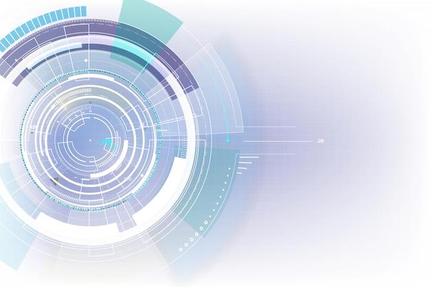 Футуристический цифровой кибер-технологии фон