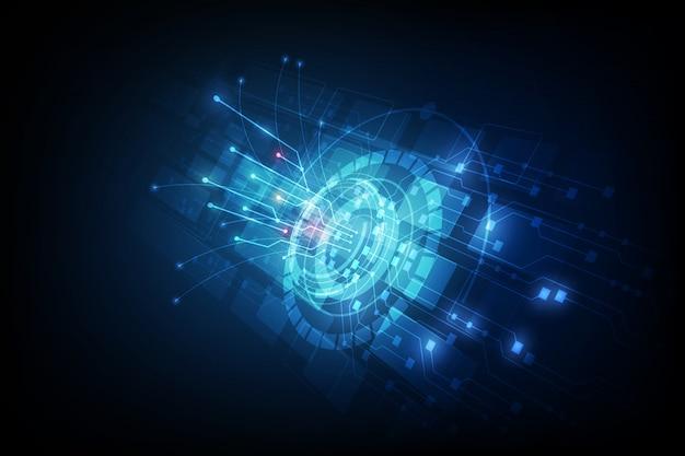 Линия связи на фоне сети телекоммуникационной концепции