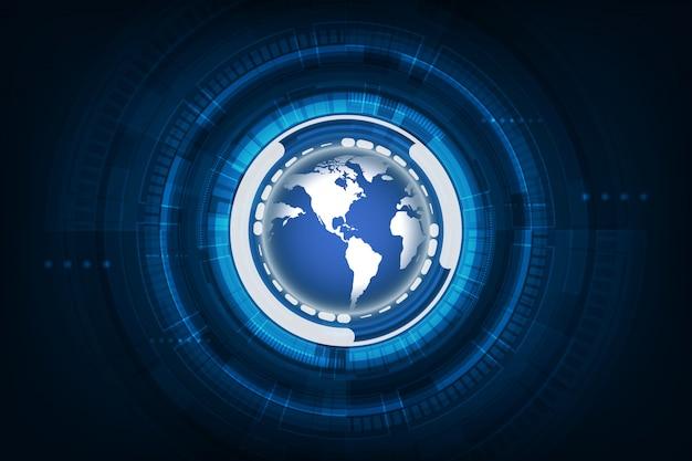 デジタルのグローバルテクノロジーの概念、抽象的な背景