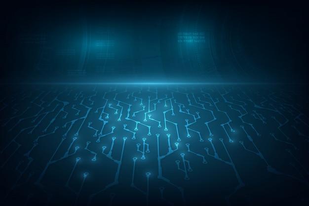 技術コンセプトの背景サイエンスフィクションデザイン。