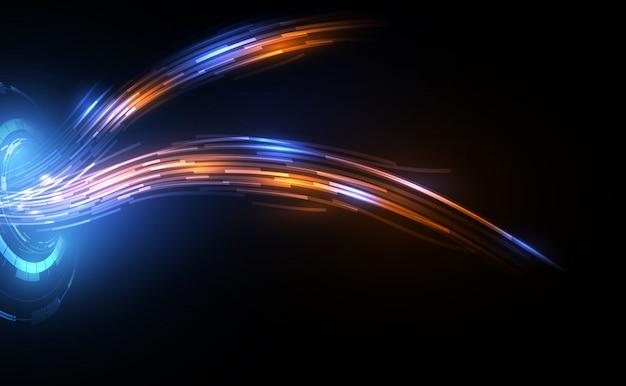 Линия связи на фоне концепции телекоммуникации оптоволоконной сети