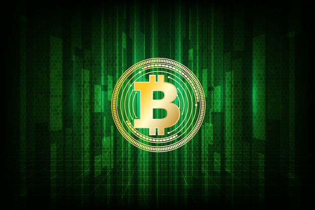 Цифровой символ валюты биткойн