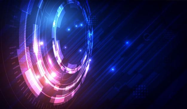 抽象的なベクトルデジタルシステム技術コンセプト。バックグラウンド
