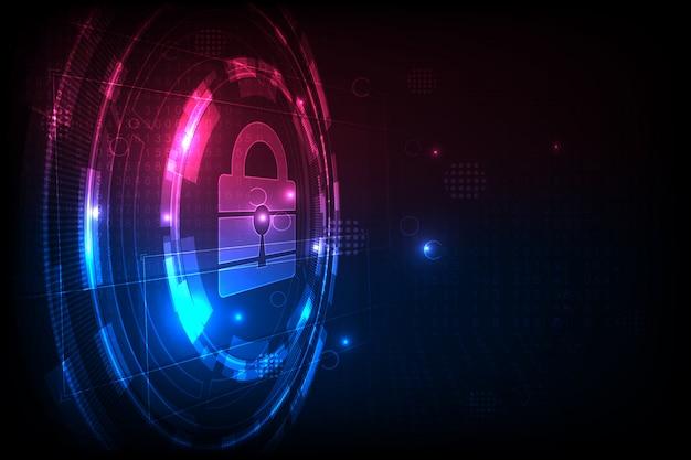 技術セキュリティのコンセプト。現代の安全デジタル背景。保護システム。