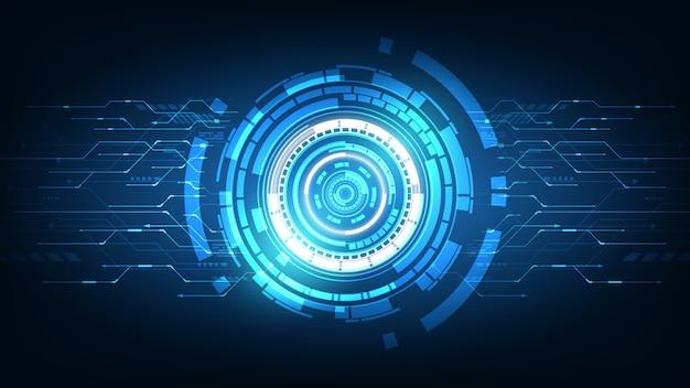 抽象的な未来技術、電気通信の背景