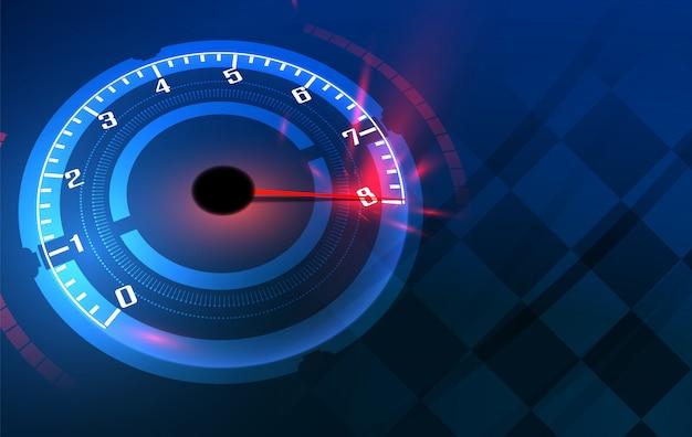 高速スピードメーター車でスピードモーションバックグラウンド。