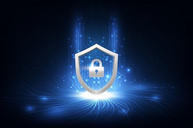 Абстрактная концепция безопасности данных технологий инновационный фон