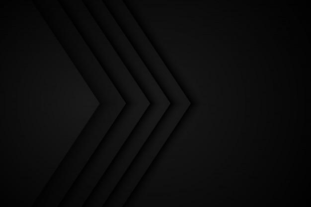 黒い背景の重複寸法グレー