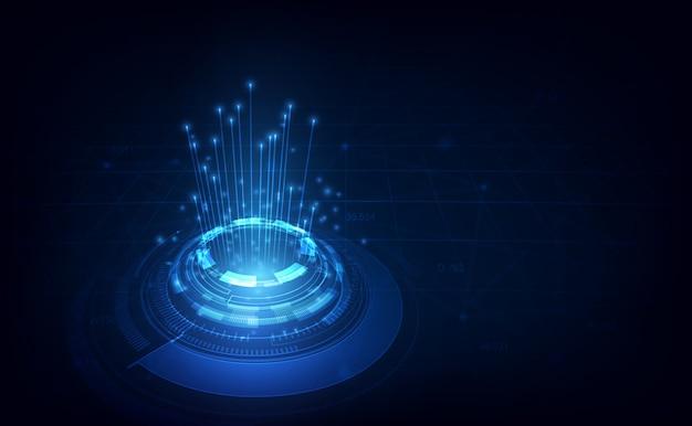 Линия связи на фоне телекоммуникационных сетей
