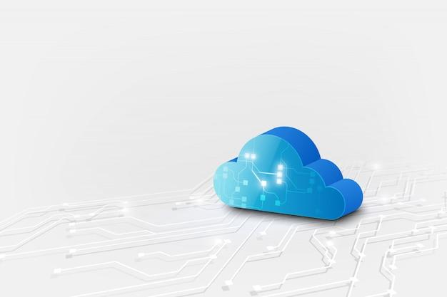 Облачные технологии системы научно-фантастический фон.