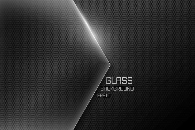 紙カットのガラス黒背景