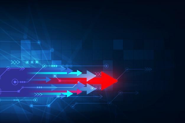 こんにちはハイテク速度接続の未来的なコンセプトの背景