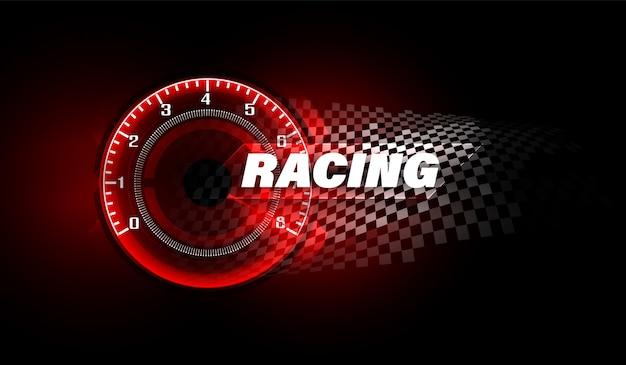 高速スピードメーター車でスピードモーションバックグラウンド。レース速度の背景。