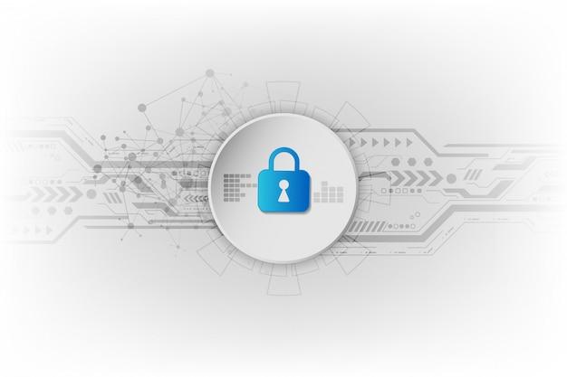 抽象的なセキュリティデジタル技術の背景。