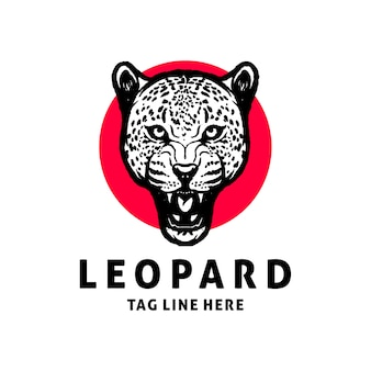 Леопард логотип дизайн вектор шаблон