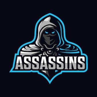 Убийца талисман спорт логотип