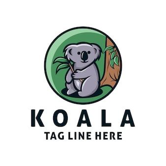 かわいいコアラのロゴのテンプレート
