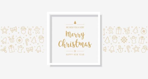 Рождественская открытка с золотым текстом