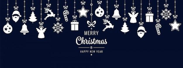 Рождественские поздравления элементы орнамента висит фон