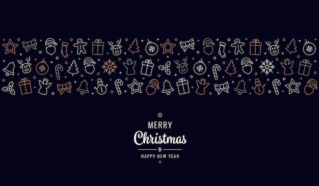 Рождественский значок орнамент баннер элементы фон