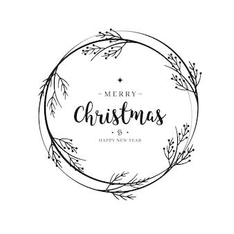 メリークリスマスの挨拶レタリング