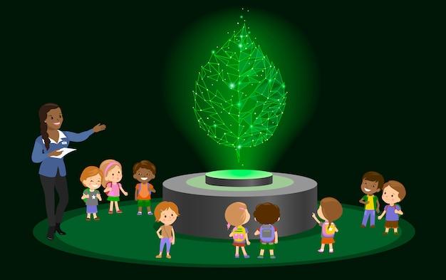 Инновационное образование в школе детского сада. голограмма о будущем музейном центре.