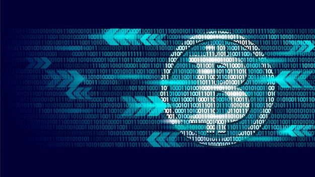 Информация о биткойн-потоке голубых светящихся финансов