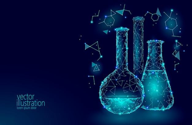 Низкополигональная наука химические стеклянные колбы