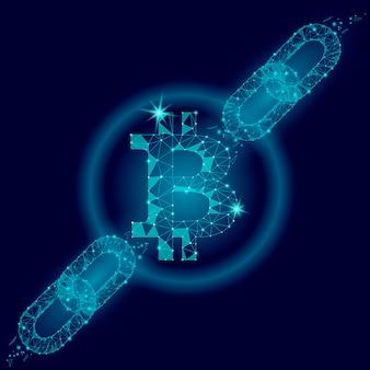 ブロックチェーンビットコイン暗号通貨マイニングファイナンスビジネスコンセプト、