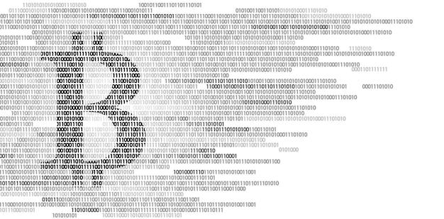 ビットコインデジタル暗号通貨記号のバイナリコード番号、ビッグデータ