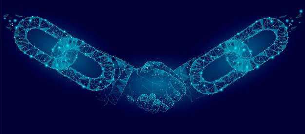 Технологическое соглашение бизнес-концепция низкополигональная.