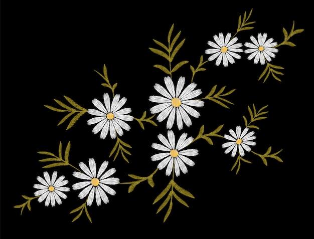 刺繍花デイジーガーベラハーブステッカーパッチ