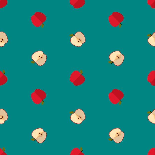 緑のりんごのパターン