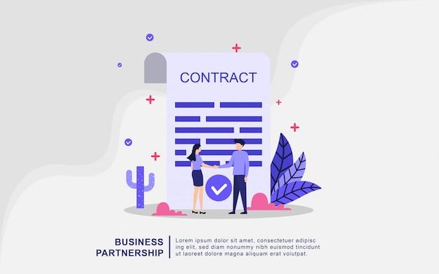 ビジネスパートナーシップの図の概念