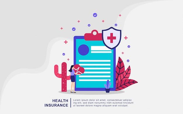 Иллюстрация концепция медицинского страхования