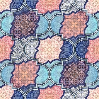 Этнические цветочный бесшовные модели абстрактный узор орнамента