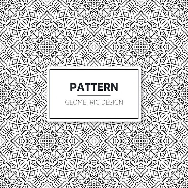 Мандала бесшовные исламская модель. винтажные элементы