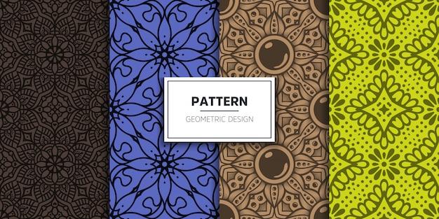 豪華な装飾的なマンダラのシームレスパターン