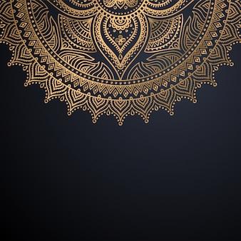 豪華な装飾的なマンダラデザインの背景
