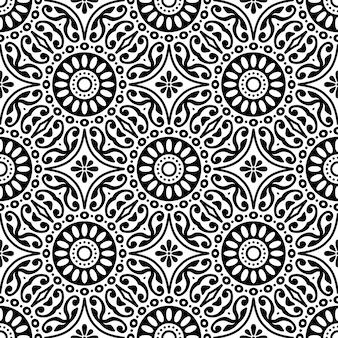 シームレスなパターン。ヴィンテージの装飾的な要素