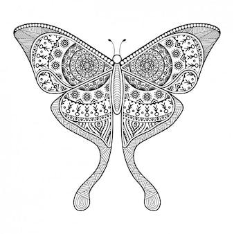 自由奔放に生きるスタイルの装飾的な蝶