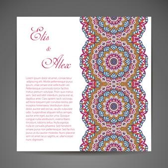 花の結婚式の招待状のデザイン
