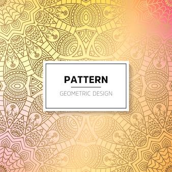 インドの花の豪華な飾りのパターン。