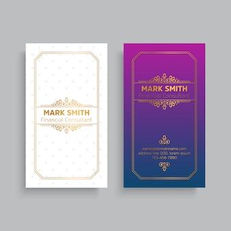 Визитная карточка. винтажные декоративные элементы