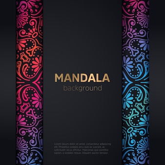 マンダラと豪華結婚式の招待状