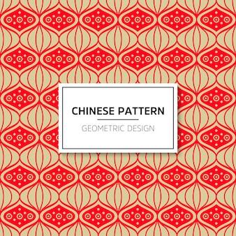 Китайский бесшовные модели. векторный фон красный орнамент. украшение с традиционным подбородком