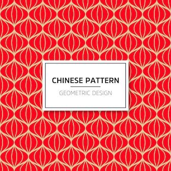 中国のシームレスなパターン。ベクトル背景赤の装飾。伝統的な顎との装飾