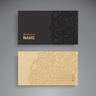 Визитная карточка. винтажные декоративные элементы.