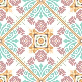 装飾タイルパターンのデザイン。ベクトル図。