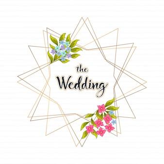 ベクトル豪華な結婚式の招待状